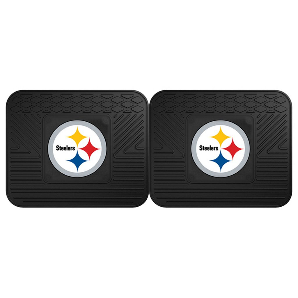 FANMATS Pittsburgh Steelers 2-Pack Utility Backseat Car Mats