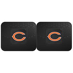 FANMATS Chicago Bears 2-Pack Utility Backseat Car Mats