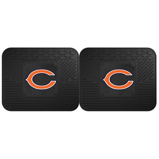FANMATS Chicago Bears 2-Pack Utility Backseat Car Mats
