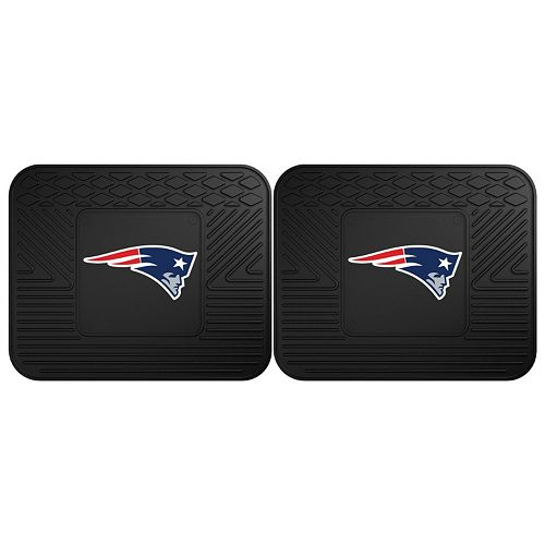 FANMATS New England Patriots 2-Pack Utility Backseat Car Mats