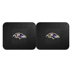 FANMATS Baltimore Ravens 2-Pack Utility Backseat Car Mats