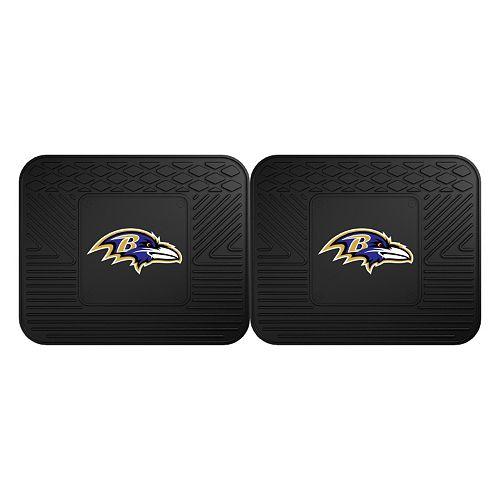 FANMATS Baltimore Ravens 2-Pack Utility Backseat Car Mats