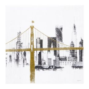 INK+IVY Metallic Bridge & Skyline Canvas Wall Art 2-piece Set