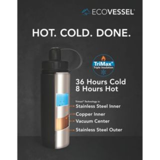 EcoVessel Summit Insulated Stainless Steel Water Bottle (24-Ounce)