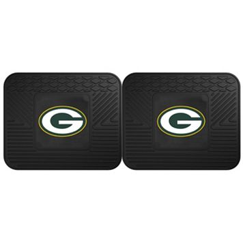 FANMATS Green Bay Packers 2-Pack Utility Backseat Car Mats