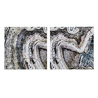 INK + IVY Cool Stone Canvas Wall Art 2 pc Set
