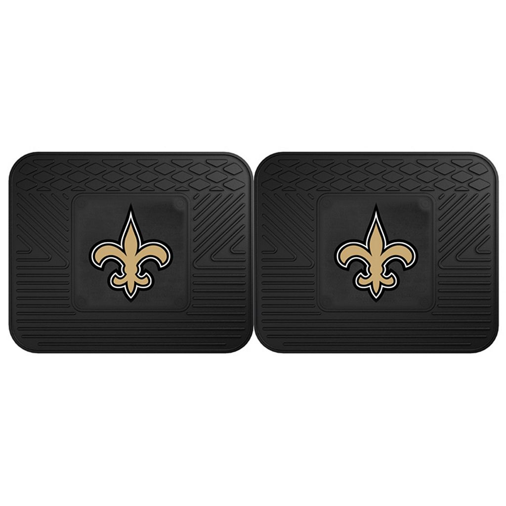 FANMATS New Orleans Saints 2-Pack Utility Backseat Car Mats