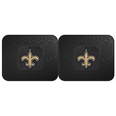 FANMATS New Orleans Saints 2-Pack Utility Backseat Car Mats