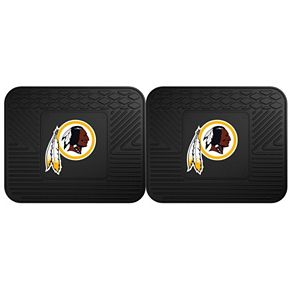 FANMATS Washington Redskins 2-Pack Utility Backseat Car Mats