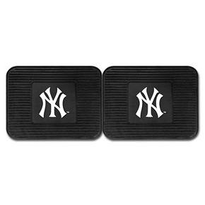 FANMATS New York Yankees 2-Pack Utility Backseat Car Mats
