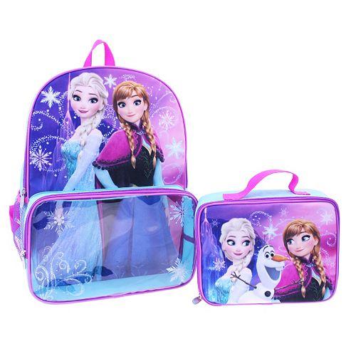 614a421a0b5 Disney s Frozen Anna   Elsa Girls Backpack   Lunch Box Set
