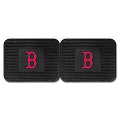 FANMATS Boston Red Sox 2-Pack Utility Backseat Car Mats