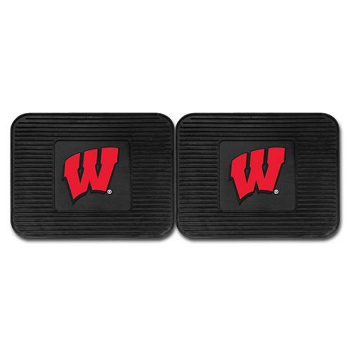 FANMATS Wisconsin Badgers 2-Pack Utility Backseat Car Mats