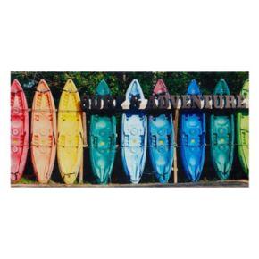 Intelligent Design Kayaking Colors Canvas Wall Art