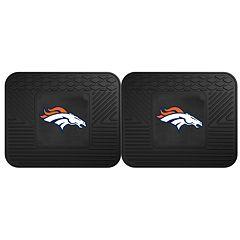 FANMATS Denver Broncos 2-Pack Utility Backseat Car Mats