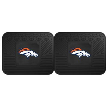 FANMATS Denver Broncos 2-Pack Utility Backseat Car Mats