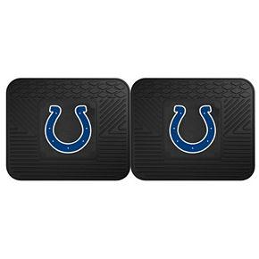 FANMATS Indianapolis Colts 2-Pack Utility Backseat Car Mats