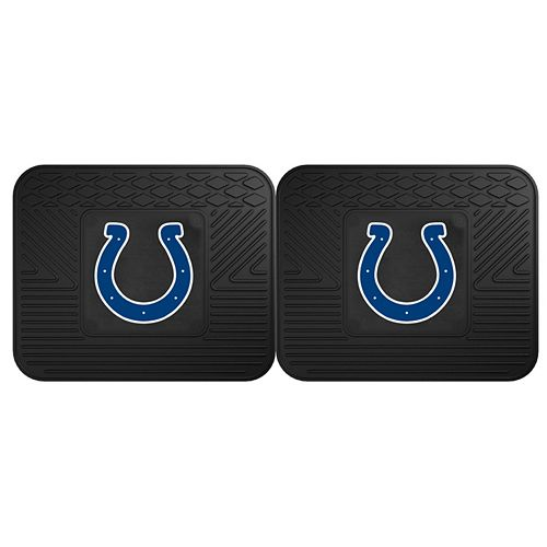 FANMATS Indianapolis Colts 2-Pack Utility Backseat Car Mats