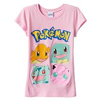 Girls 7-16 Pokemon Characters Graphic Tee
