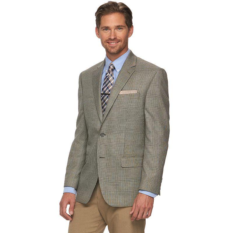 Men's Chaps Windowpane Classic-Fit Sport Coat