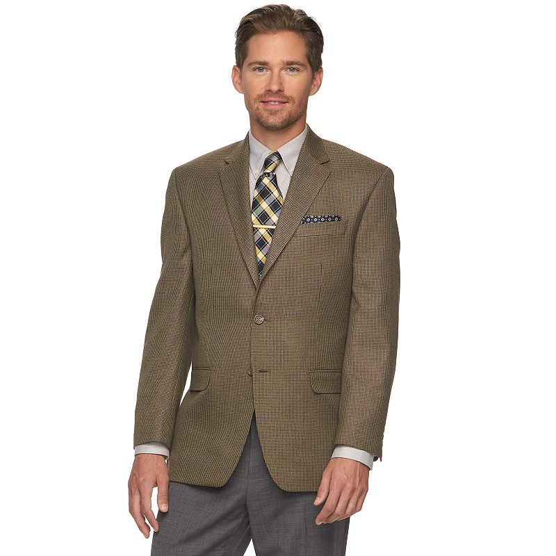 Men's Chaps Houndstooth Classic-Fit Sport Coat