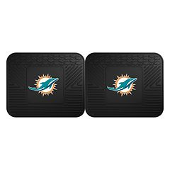 FANMATS Miami Dolphins 2-Pack Utility Backseat Car Mats