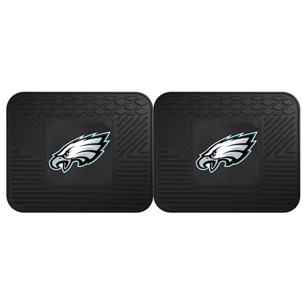 FANMATS Philadelphia Eagles 2-Pack Utility Backseat Car Mats