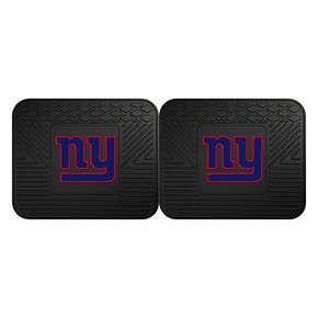 FANMATS New York Giants 2-Pack Utility Backseat Car Mats
