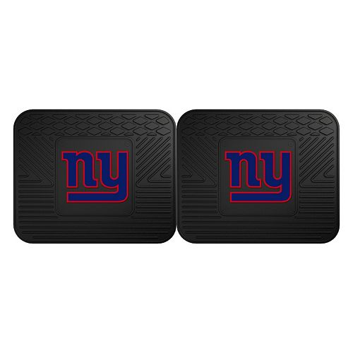 FANMATS New York Giants 2-Pack Utility Backseat Car Mats