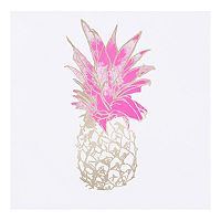 Intelligent Design Gold Foiled Pineapple Canvas Wall Art
