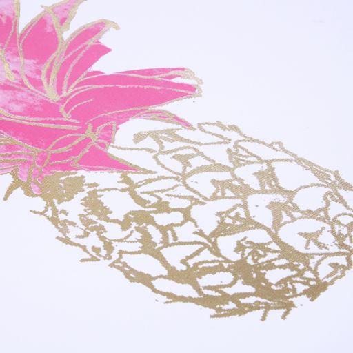 Intelligent Design Gold Foiled Pineapple Canvas Wall Art