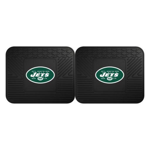 FANMATS New York Jets 2-Pack Utility Backseat Car Mats