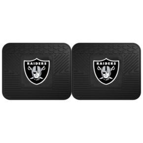 FANMATS Oakland Raiders 2-Pack Utility Backseat Car Mats