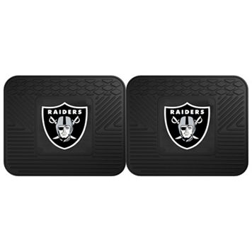 FANMATS Oakland Raiders 2-Pack Utility Backseat Car Mats