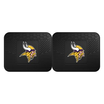 FANMATS Minnesota Vikings 2-Pack Utility Backseat Car Mats