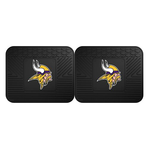 FANMATS Minnesota Vikings 2-Pack Utility Backseat Car Mats