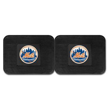 FANMATS New York Mets 2-Pack Utility Backseat Car Mats