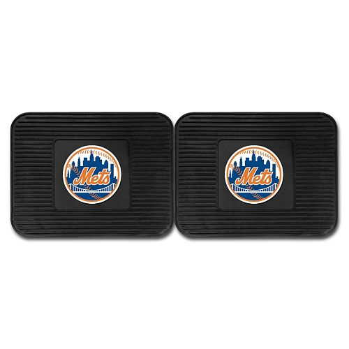 FANMATS New York Mets 2-Pack Utility Backseat Car Mats