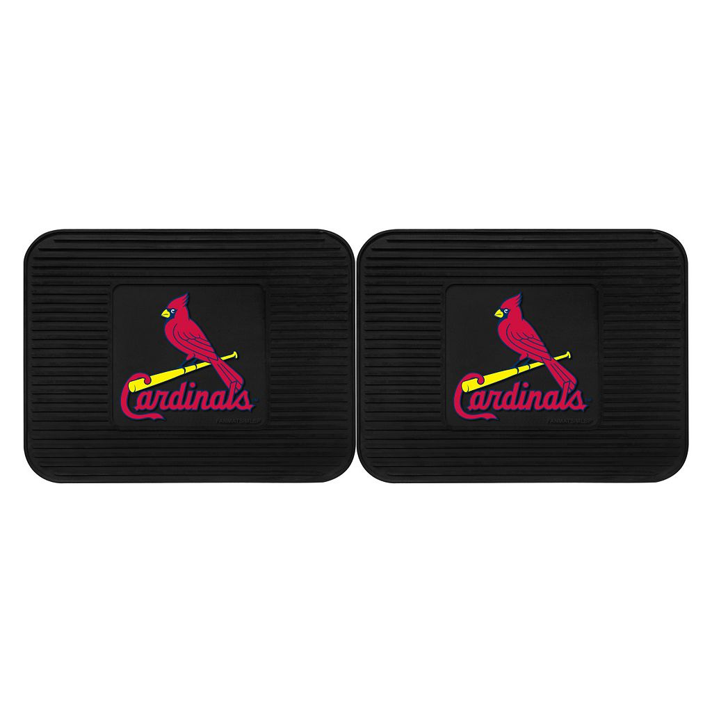 FANMATS St. Louis Cardinals 2-Pack Utility Backseat Car Mats