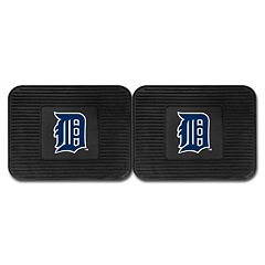 FANMATS Detroit Tigers 2-Pack Utility Backseat Car Mats