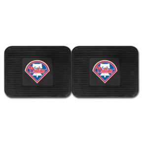 FANMATS Philadelphia Phillies 2-Pack Utility Backseat Car Mats