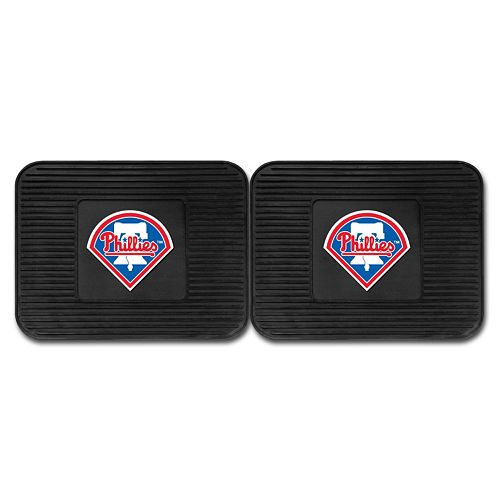 FANMATS Philadelphia Phillies 2-Pack Utility Backseat Car Mats