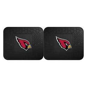 FANMATS Arizona Cardinals 2-Pack Utility Backseat Car Mats
