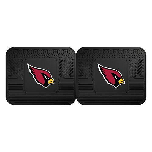 FANMATS Arizona Cardinals 2-Pack Utility Backseat Car Mats