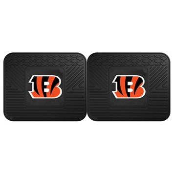 FANMATS Cincinnati Bengals 2-Pack Utility Backseat Car Mats
