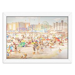 Americanflat Brooklyn Beach Framed Wall Art