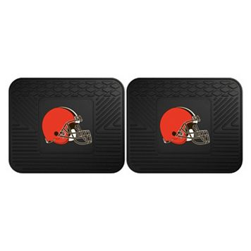 FANMATS Cleveland Browns 2-Pack Utility Backseat Car Mats