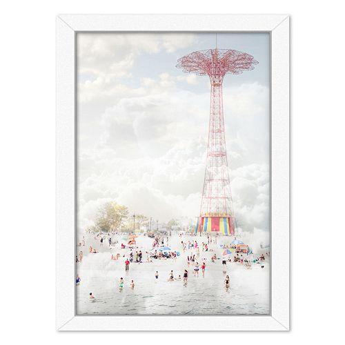 Americanflat Brooklyn Eiffel Framed Wall Art