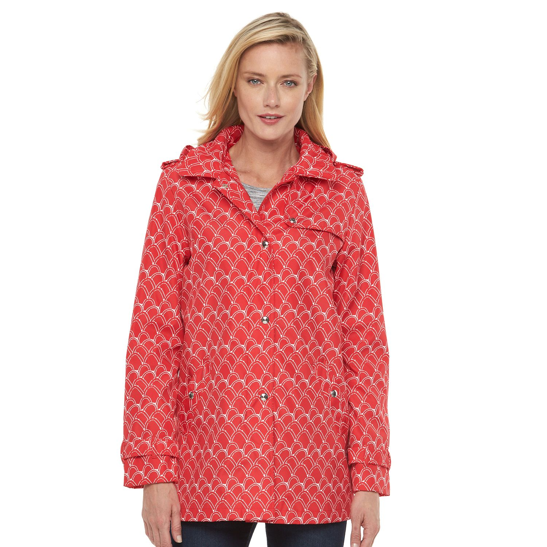 Womens Weathercast Hooded Rain Jacket