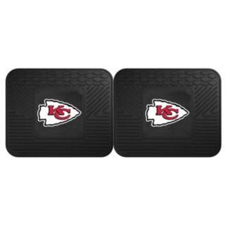 FANMATS Kansas City Chiefs 2-Pack Utility Backseat Car Mats